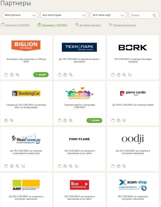 Где потратить бонусы «Спасибо от Сбербанка» – список магазинов