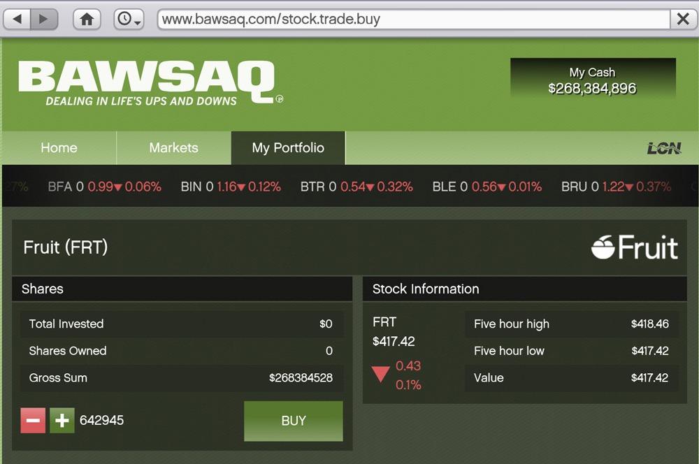 Обзор бирж в игре GTA 5