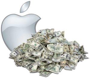 сколько зарабатывает в секунду компания Айпл